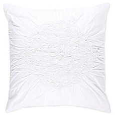 image of Wamsutta® Vintage Ruched European Pillow Sham in White