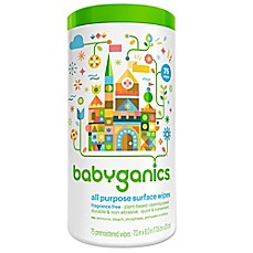 image of Babyganics® 75-Count Fragrance-Free All-Purpose Wipes
