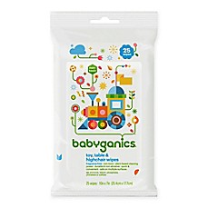 image of Babyganics® 25-Count Toy, Table and Highchair Wipes