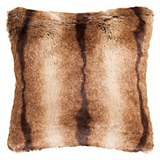 image of Safavieh Faux Luxe Brick Square Throw Pillow in Chocolate