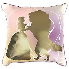 image of Disney® Beauty & The Beast Beauty Belle En Rose Square Throw Pillow