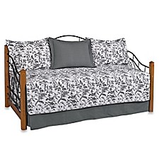 image of Laura Ashley® Amberley Daybed Set in Black/White