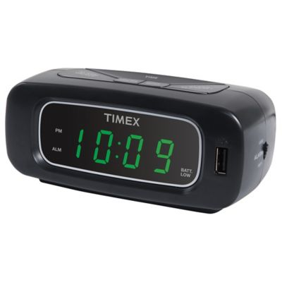 Alarm clock projection bed bath beyond timexreg alarm clock with usb charger outlet mozeypictures Gallery