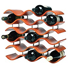 image of Oenophilia Bali 15-Bottle Wine Rack in Spiced Pumpkin