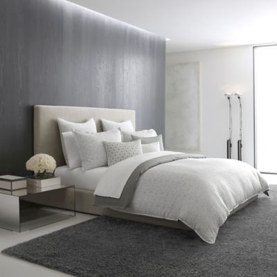 image of Vera Wang™ Lux Mirror Square Duvet Cover in Grey