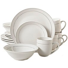 image of Gibson Home Platinum Moon 16-Piece Dinnerware Set