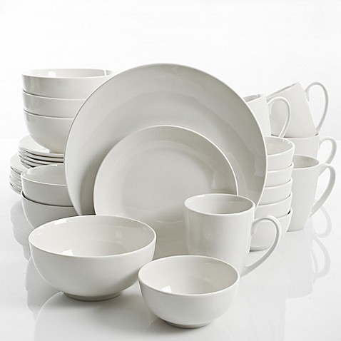 Gibson Home Ogalla 30-Piece Dinnerware Set in White  sc 1 st  Bed Bath \u0026 Beyond : gibson dinnerware sets white - pezcame.com