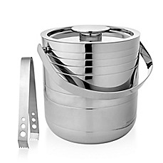 image of Stainless Steel Ice Bucket with Tongs