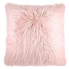 image of flokati faux fur throw pillow