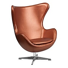 image of Flash Furniture Leather Egg Chair