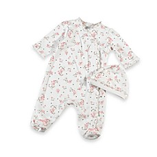 image of Little Me® Vintage Rose Footie with Cap