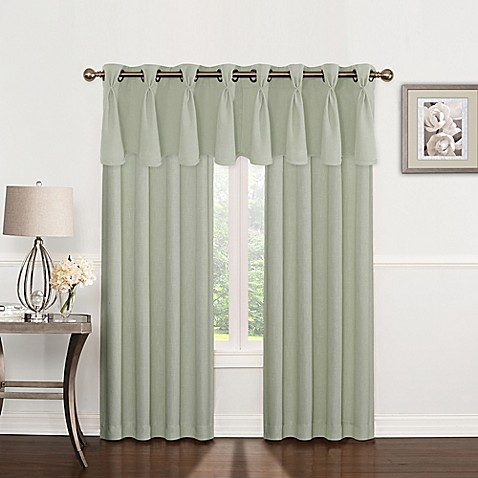 Riverstone Pinch Pleat Grommet Top Window Curtain Panel And Valance Bed Bath Beyond