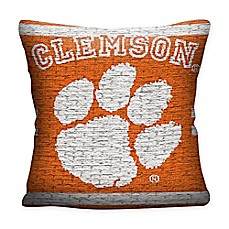 image of Clemson University Woven Square Throw Pillow
