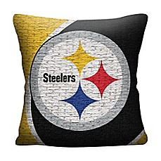 image of NFL Pittsburgh Steelers Woven Square Throw Pillow