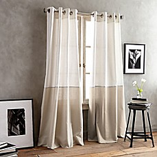 image of dkny color band grommet top window curtain panel