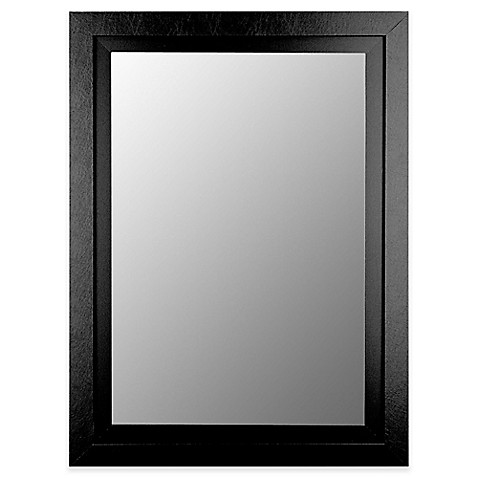 Buy Hitchcock Butterfield Contemporary Wide 38 Inch X 48 Inch Mirror In Black From Bed Bath Beyond