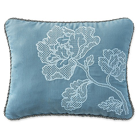Buy Waterford Blossom Oblong Throw Pillow in Blue from Bed Bath & Beyond