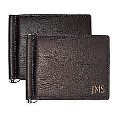 image of Cathy's Concepts Leather Wallet and Money Clip with Stainless Steel Tool
