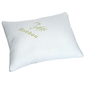 image of Remedy Memory Foam Pillow with Removable Cover in White