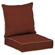 image of Bombay® Pompas Snap Dry™ 46.5-Inch x 24-Inch Outdoor Deep Seat Cushion Set in Pomegranate