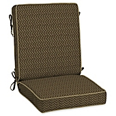 image of Bombay® Outdoors Rhodes Snap Chair Cushion in Brown