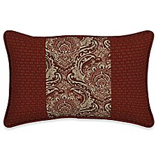 image of Bombay® Venice 13-Inch x 20-Inch Outdoor Pieced Face Lumbar Pillow in Red