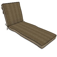 image of Bombay® Zebra 74-Inch x 22-Inch Outdoor Chaise Cushion in Tan