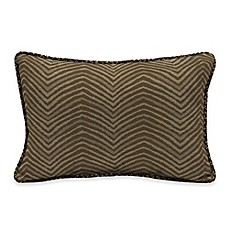 image of Bombay® Zebra 13-Inch x 20-Inch Outdoor Lumbar Pillow with Welt in Tan