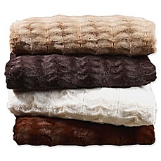 image of Embossed Faux Mink Blanket