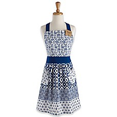 image of Tunisia Apron in Blue/White