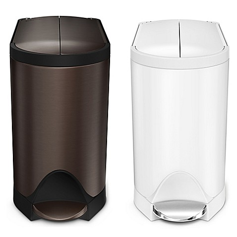 image of simplehuman 10liter butterfly step trash can