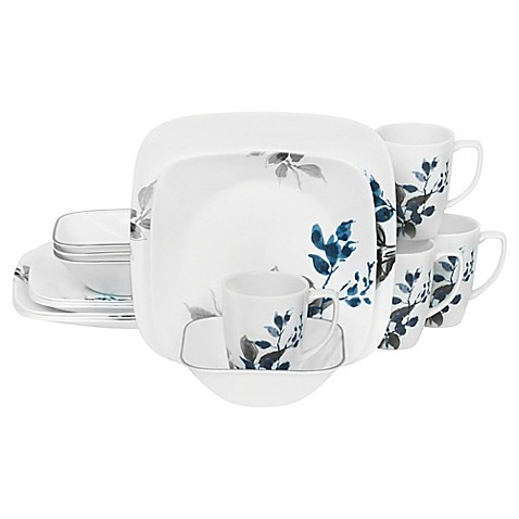 Corelleu0026reg; Boutique Kyoto Night 16-Piece Dinnerware Set  sc 1 st  Bed Bath u0026 Beyond & Corelle® Boutique Kyoto Night 16-Piece Dinnerware Set - Bed Bath ...