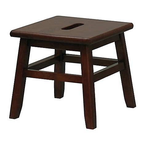 Porter Stool In Walnut Bed Bath Amp Beyond