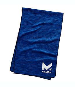 Toalla grande para ejercicio HydroActive Premium Mission en azul espacio