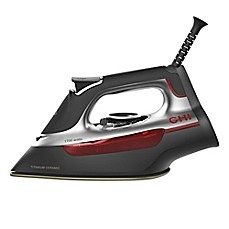 image of CHI® Manual Steam Iron in Black/Red