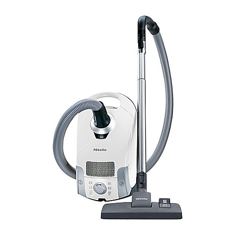 image of miele compact c1 pure suction vacuum in white - Electrolux Canister Vacuum