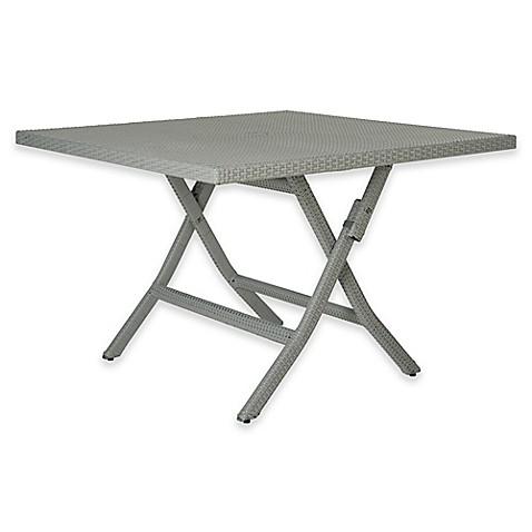Safavieh Samana Square Folding Table In Grey