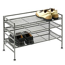 image of 3-Tier Iron Stackable Shoe Shelf