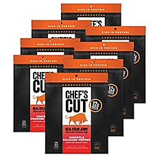 image of Chef's Cut Real Steak Jerky 8-Pack in Chipotle Cracked Pepper