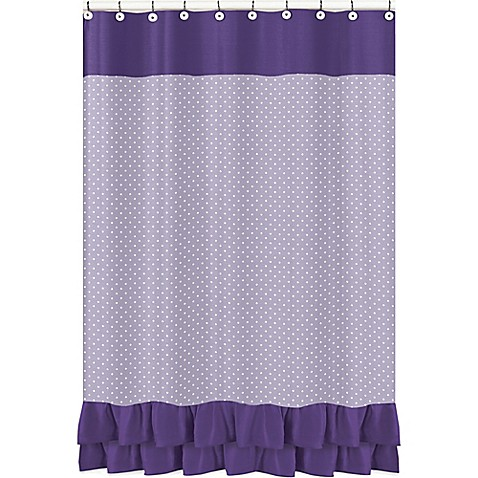 Sweet Jojo Designs Sloane Shower Curtain In Purple White Bed Bath Beyond