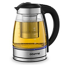 image of Gourmia® 2 qt. Cordless Electric Clear Kettle with Infuser