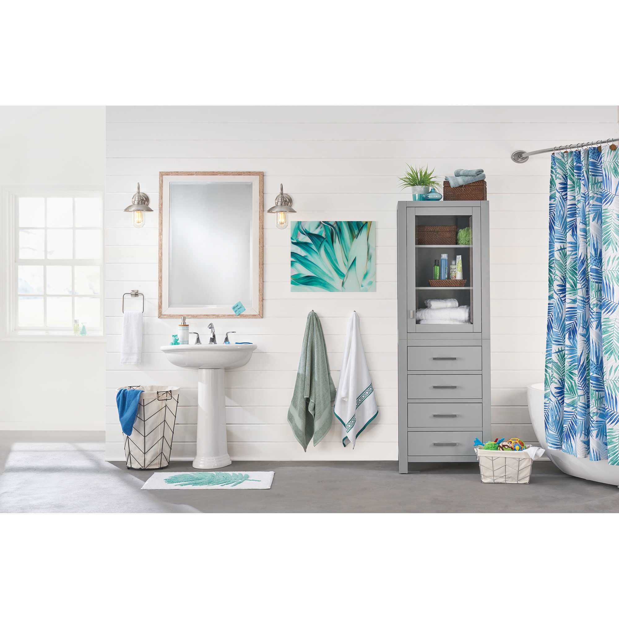 Tropical Oasis Coastal Bathroom - Bed Bath & Beyond