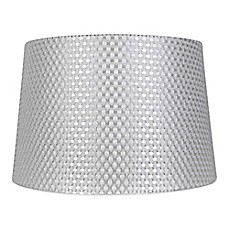 Small large lamp shades chandelier shades bed bath beyond image of mix match large textured drum lamp shade in grey aloadofball Image collections