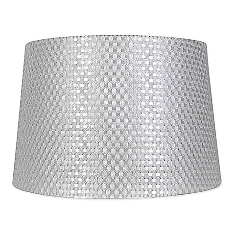Mix match large textured drum lamp shade in grey bed bath beyond mix match large textured drum lamp shade in grey aloadofball Image collections