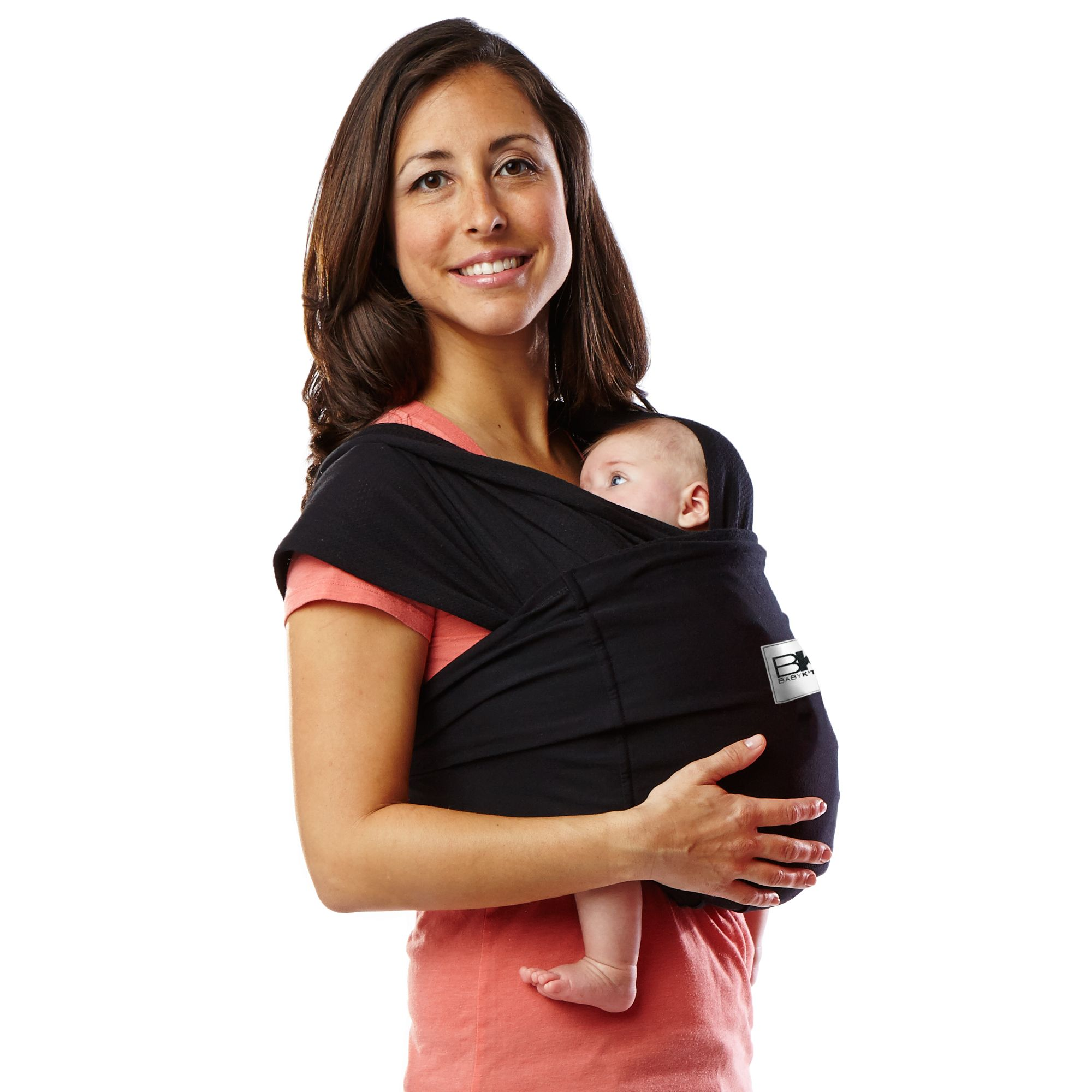 Baby K tan Baby Carrier in Black BABY