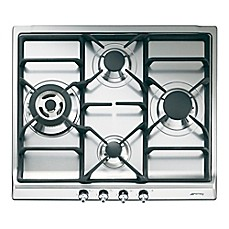 image of SMEG 24-Inch Classic Gas Cooktop in Stainless Steel