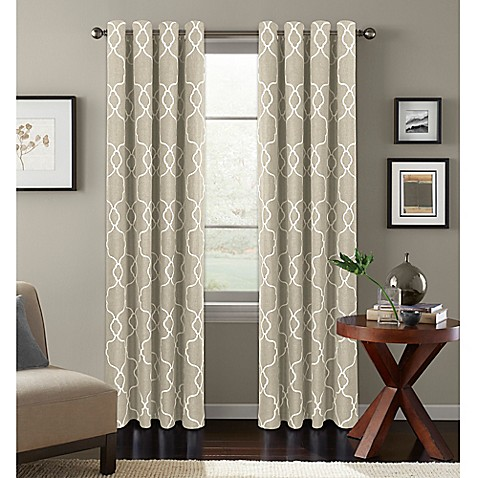 Colordrift Mandy Grommet Top Room Darkening Window Curtain Panel Bed Bath Beyond