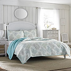 image of Laura Ashley® Saltwater Reversible Quilt Set