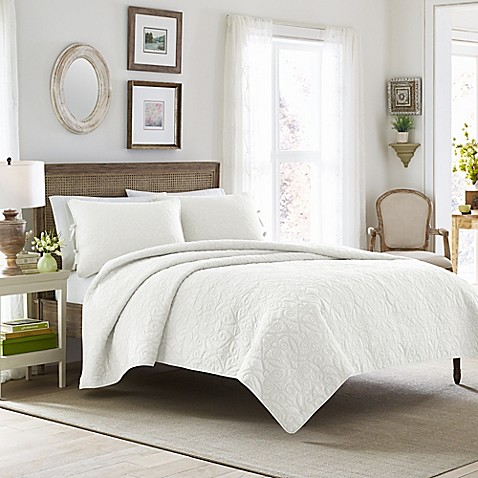 Laura ashley felicity quilt set bed bath beyond laura ashleyreg felicity quilt set gumiabroncs Image collections