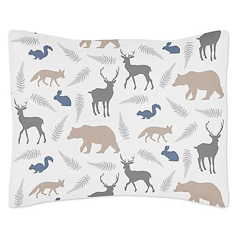 Reversible Animal Pillow : Sweet Jojo Designs Woodland Animals Reversible Standard Pillow Sham - Bed Bath & Beyond
